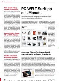Titelbild der Ausgabe 6/2018 von Internet: PC-WELT-Surftipp des Monats. Zeitschriften als Abo oder epaper bei United Kiosk online kaufen.