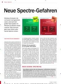 Titelbild der Ausgabe 7/2018 von Spectre: Neue Spectre-Gefahren. Zeitschriften als Abo oder epaper bei United Kiosk online kaufen.