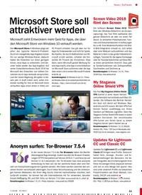 Titelbild der Ausgabe 7/2018 von Software: Microsoft Store soll attraktiver werden. Zeitschriften als Abo oder epaper bei United Kiosk online kaufen.
