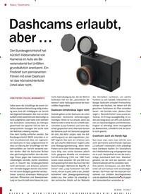 Titelbild der Ausgabe 8/2018 von Dashcams: Dashcams erlaubt, aber …. Zeitschriften als Abo oder epaper bei United Kiosk online kaufen.