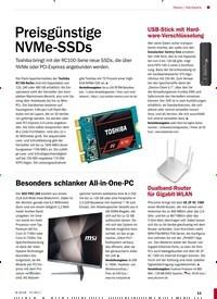 Titelbild der Ausgabe 8/2018 von Hardware: Preisgünstige NVMe-SSDs. Zeitschriften als Abo oder epaper bei United Kiosk online kaufen.