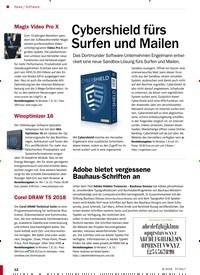 Titelbild der Ausgabe 8/2018 von Software: Cybershield fürs Surfen und Mailen. Zeitschriften als Abo oder epaper bei United Kiosk online kaufen.