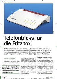 Titelbild der Ausgabe 9/2018 von Internet: Telefontricks für die Fritzbox. Zeitschriften als Abo oder epaper bei United Kiosk online kaufen.
