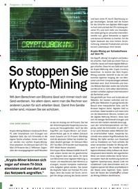 Titelbild der Ausgabe 9/2018 von Sicherheit: So stoppen Sie Krypto-Mining. Zeitschriften als Abo oder epaper bei United Kiosk online kaufen.