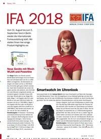 Titelbild der Ausgabe 10/2018 von IFA 2018. Zeitschriften als Abo oder epaper bei United Kiosk online kaufen.