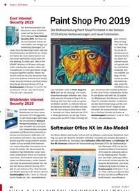 Titelbild der Ausgabe 10/2018 von Software: Paint Shop Pro 2019. Zeitschriften als Abo oder epaper bei United Kiosk online kaufen.
