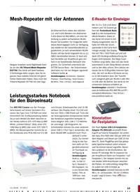 Titelbild der Ausgabe 11/2018 von Leistungsstarkes Notebook für den Büroeinsatz. Zeitschriften als Abo oder epaper bei United Kiosk online kaufen.