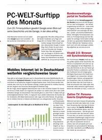 Titelbild der Ausgabe 12/2018 von PC-WELT-Surftipp des Monats. Zeitschriften als Abo oder epaper bei United Kiosk online kaufen.