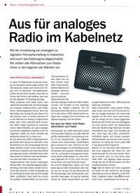 Titelbild der Ausgabe 1/2019 von Unterhaltungselektronik: Aus für analoges Radio im Kabelnetz. Zeitschriften als Abo oder epaper bei United Kiosk online kaufen.
