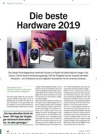 Titelbild der Ausgabe 1/2019 von Hardware: Die beste Hardware 2019. Zeitschriften als Abo oder epaper bei United Kiosk online kaufen.