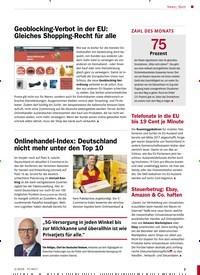 Titelbild der Ausgabe 2/2019 von Geoblocking-Verbot in der EU: Gleiches Shopping-Recht für alle. Zeitschriften als Abo oder epaper bei United Kiosk online kaufen.