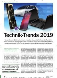 Titelbild der Ausgabe 2/2019 von Technik-Trends 2019. Zeitschriften als Abo oder epaper bei United Kiosk online kaufen.