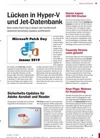 Titelbild der Ausgabe 3/2019 von Sicherheit: Lücken in Hyper-V und Jet-Datenbank. Zeitschriften als Abo oder epaper bei United Kiosk online kaufen.