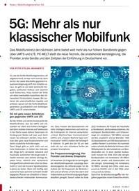 Titelbild der Ausgabe 4/2019 von Mobilfunkgeneration 5G: 5G: Mehr als nur klassischer Mobilfunk. Zeitschriften als Abo oder epaper bei United Kiosk online kaufen.