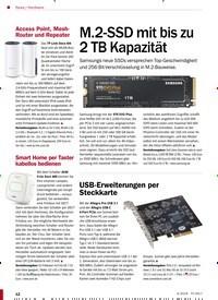 Titelbild der Ausgabe 4/2019 von Hardware: M.2-SSD mit bis zu 2 TB Kapazität. Zeitschriften als Abo oder epaper bei United Kiosk online kaufen.