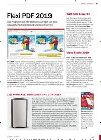 Titelbild der Ausgabe 5/2019 von Software: Flexi PDF 2019. Zeitschriften als Abo oder epaper bei United Kiosk online kaufen.
