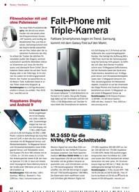 Titelbild der Ausgabe 5/2019 von Hardware: Falt-Phone mit Triple-Kamera. Zeitschriften als Abo oder epaper bei United Kiosk online kaufen.
