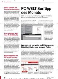 Titelbild der Ausgabe 5/2019 von Internet: PC-WELT-Surftipp des Monats. Zeitschriften als Abo oder epaper bei United Kiosk online kaufen.