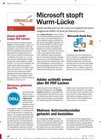 Titelbild der Ausgabe 7/2019 von Microsoft stopft Wurm-Lücke. Zeitschriften als Abo oder epaper bei United Kiosk online kaufen.