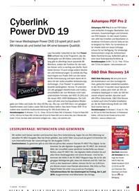 Titelbild der Ausgabe 7/2019 von Cyberlink Power DVD 19. Zeitschriften als Abo oder epaper bei United Kiosk online kaufen.