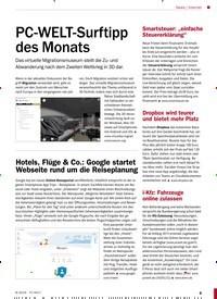 Titelbild der Ausgabe 8/2019 von Internet: PC-WELT-Surftipp des Monats. Zeitschriften als Abo oder epaper bei United Kiosk online kaufen.