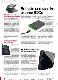 Titelbild der Ausgabe 8/2019 von Hardware: Robuste und schicke externe HDDs. Zeitschriften als Abo oder epaper bei United Kiosk online kaufen.