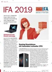 Titelbild der Ausgabe 10/2019 von IFA: IFA 2019. Zeitschriften als Abo oder epaper bei United Kiosk online kaufen.