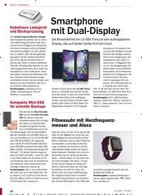Titelbild der Ausgabe 11/2019 von Hardware: Smartphone mit Dual-Display. Zeitschriften als Abo oder epaper bei United Kiosk online kaufen.