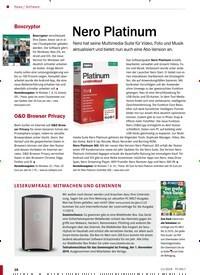 Titelbild der Ausgabe 11/2019 von Software: Nero Platinum. Zeitschriften als Abo oder epaper bei United Kiosk online kaufen.