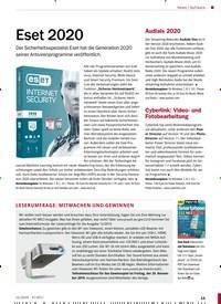 Titelbild der Ausgabe 12/2019 von Eset 2020. Zeitschriften als Abo oder epaper bei United Kiosk online kaufen.