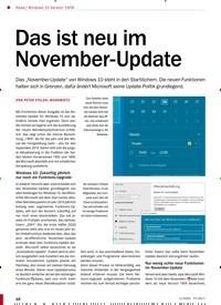 Titelbild der Ausgabe 1/2020 von Windows 10 Version 1909: Das ist neu im November-Update. Zeitschriften als Abo oder epaper bei United Kiosk online kaufen.