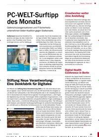 Titelbild der Ausgabe 2/2020 von Internet: PC-WELT-Surftipp des Monats. Zeitschriften als Abo oder epaper bei United Kiosk online kaufen.