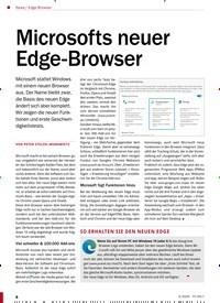 Titelbild der Ausgabe 3/2020 von Edge-Browser: Microsofts neuer Edge-Browser. Zeitschriften als Abo oder epaper bei United Kiosk online kaufen.