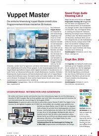Titelbild der Ausgabe 3/2020 von Software: Vuppet Master. Zeitschriften als Abo oder epaper bei United Kiosk online kaufen.