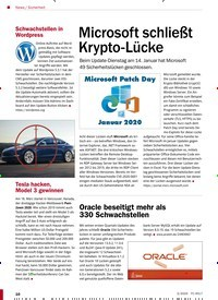 Titelbild der Ausgabe 3/2020 von Sicherheit: Microsoft schließt Krypto-Lücke. Zeitschriften als Abo oder epaper bei United Kiosk online kaufen.