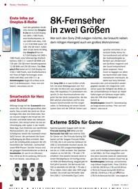 Titelbild der Ausgabe 3/2020 von Hardware: 8K-Fernseher in zwei Größen. Zeitschriften als Abo oder epaper bei United Kiosk online kaufen.