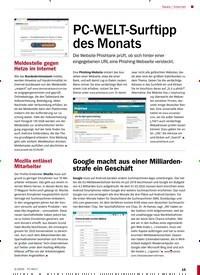 Titelbild der Ausgabe 3/2020 von Internet: PC-WELT-Surftipp des Monats. Zeitschriften als Abo oder epaper bei United Kiosk online kaufen.
