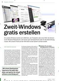 Titelbild der Ausgabe 3/2020 von Windows: Zweit-Windows gratis erstellen. Zeitschriften als Abo oder epaper bei United Kiosk online kaufen.