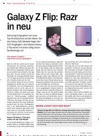 Titelbild der Ausgabe 4/2020 von Samsung Galaxy Z Flip & Co.: Galaxy Z Flip: Razr in neu. Zeitschriften als Abo oder epaper bei United Kiosk online kaufen.