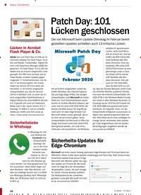 Titelbild der Ausgabe 4/2020 von Sicherheit: Patch Day: 101 Lücken geschlossen. Zeitschriften als Abo oder epaper bei United Kiosk online kaufen.