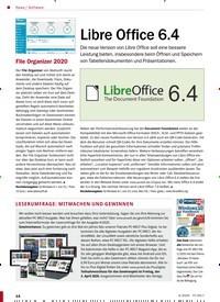 Titelbild der Ausgabe 4/2020 von Software: Libre Office 6.4. Zeitschriften als Abo oder epaper bei United Kiosk online kaufen.