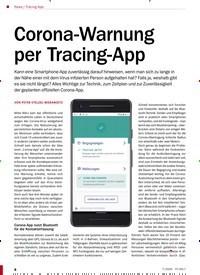 Titelbild der Ausgabe 7/2020 von Tracing-App: Corona-Warnung per Tracing-App. Zeitschriften als Abo oder epaper bei United Kiosk online kaufen.
