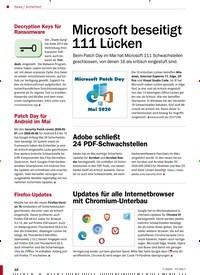 Titelbild der Ausgabe 7/2020 von Sicherheit: Microsoft beseitigt 111 Lücken. Zeitschriften als Abo oder epaper bei United Kiosk online kaufen.