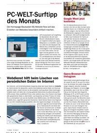 Titelbild der Ausgabe 7/2020 von Internet: PC-WELT-Surftipp des Monats. Zeitschriften als Abo oder epaper bei United Kiosk online kaufen.
