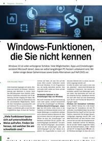 Titelbild der Ausgabe 7/2020 von Windows: Windows-Funktionen, die Sie nicht kennen. Zeitschriften als Abo oder epaper bei United Kiosk online kaufen.