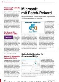 Titelbild der Ausgabe 8/2020 von Sicherheit: Microsoft mit Patch-Rekord. Zeitschriften als Abo oder epaper bei United Kiosk online kaufen.