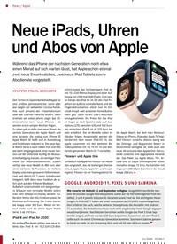 Titelbild der Ausgabe 11/2020 von Apple: Neue iPads, Uhren und Abos von Apple. Zeitschriften als Abo oder epaper bei United Kiosk online kaufen.