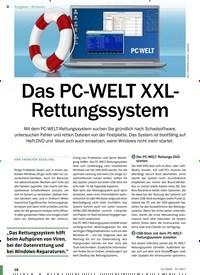 Titelbild der Ausgabe 11/2020 von Windows: Das PC-WELT XXLRettungssystem. Zeitschriften als Abo oder epaper bei United Kiosk online kaufen.