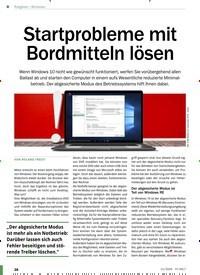 Titelbild der Ausgabe 11/2020 von Windows: Startprobleme mit Bordmitteln lösen. Zeitschriften als Abo oder epaper bei United Kiosk online kaufen.
