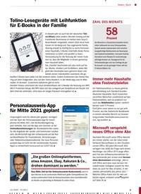 Titelbild der Ausgabe 12/2020 von Bunt: Tolino-Lesegeräte mit Leihfunktion für E-Books in der Familie. Zeitschriften als Abo oder epaper bei United Kiosk online kaufen.